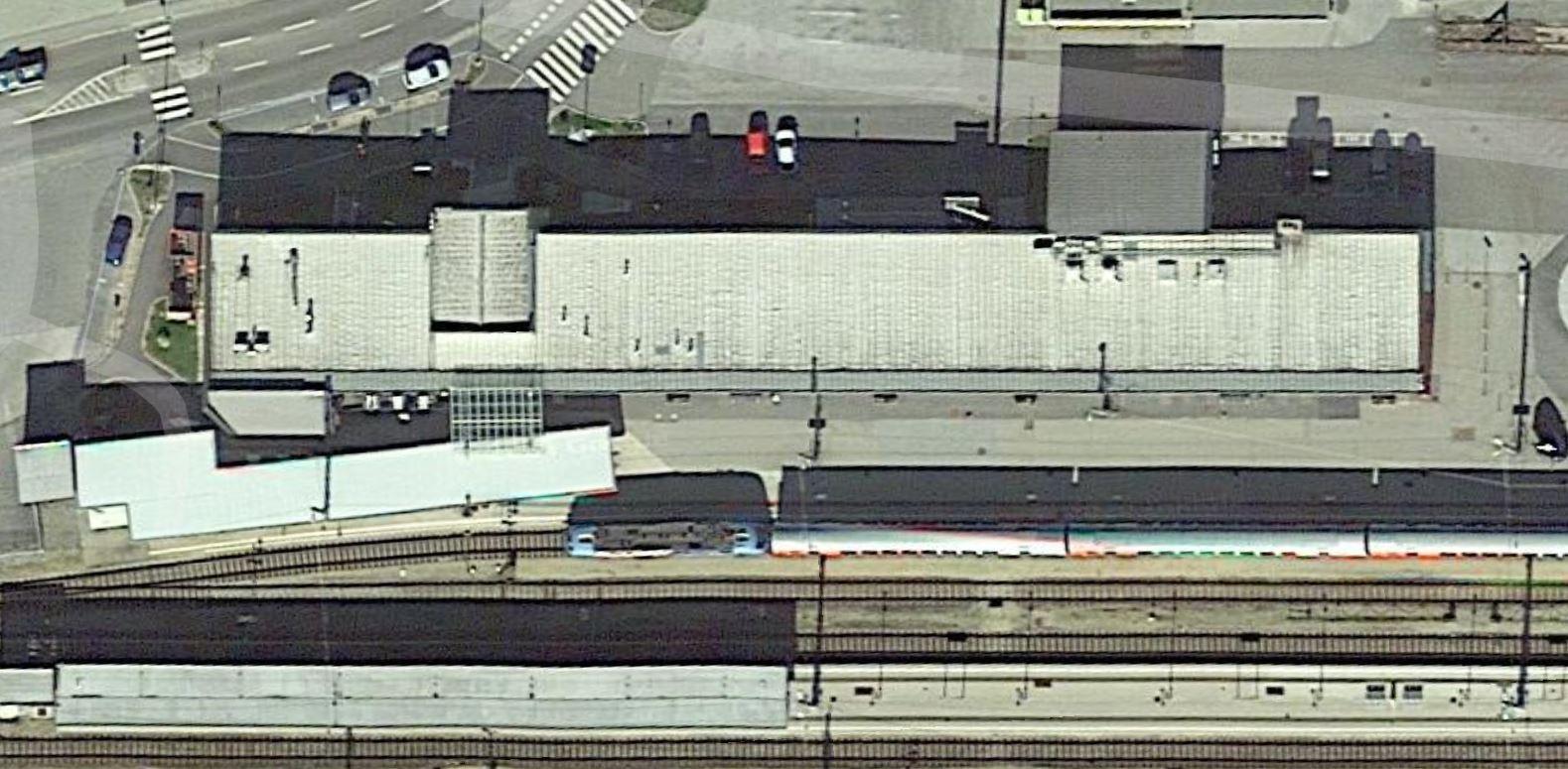 Bahnhof Gmünd Sattelitenbild, Quelle: Google Earth